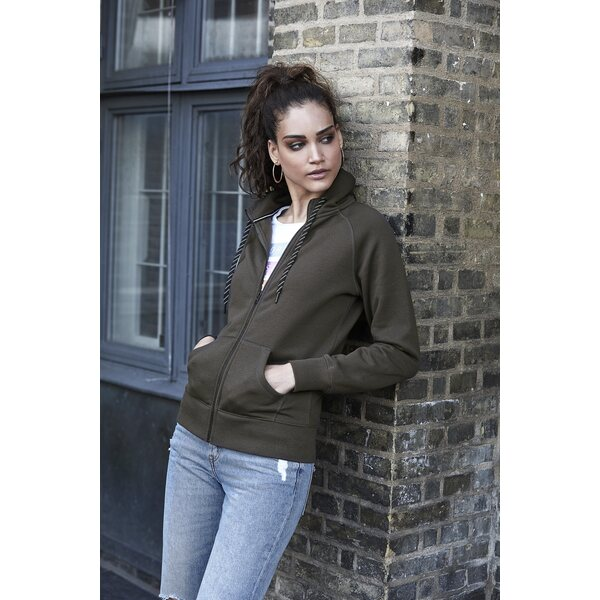 TeeJays naisten Fashion Full Zip Huppari